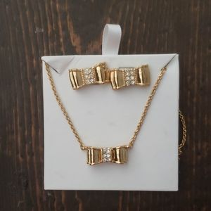 Kate Spade Bow Earring and Necklace